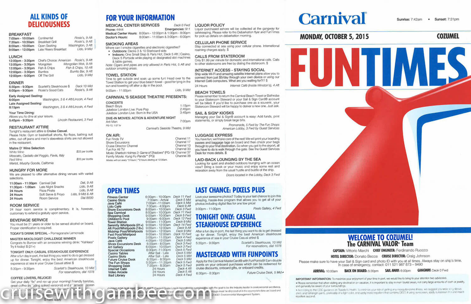 Carnival Valor Fun Times Western Dailies Cruise With Gambee