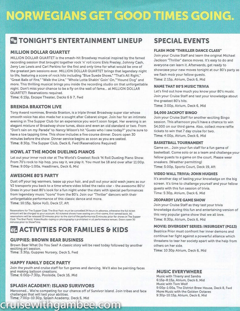 Norwegian Escape Daily eastern itinerary paper-26