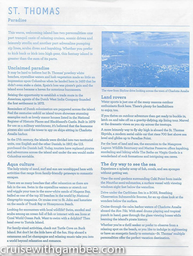Regal Princess Patter Daily Guide-23