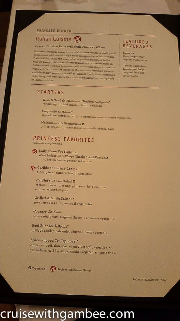 princess cruise menu-3