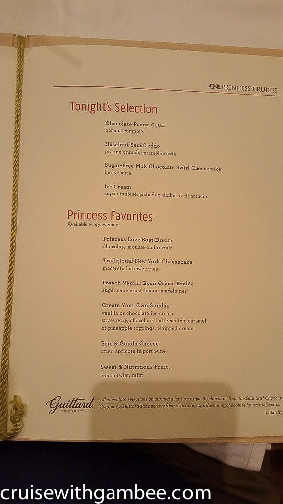 princess cruise menu-4