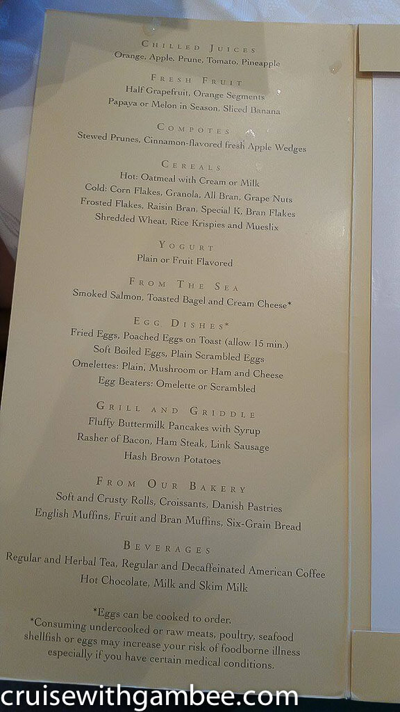 princess cruise menu-6