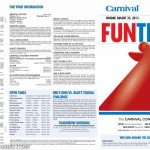 Carnival Conquest FunTimes Daily Itinerary
