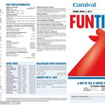 Carnival Triumph FunTimes Daily Itinerary
