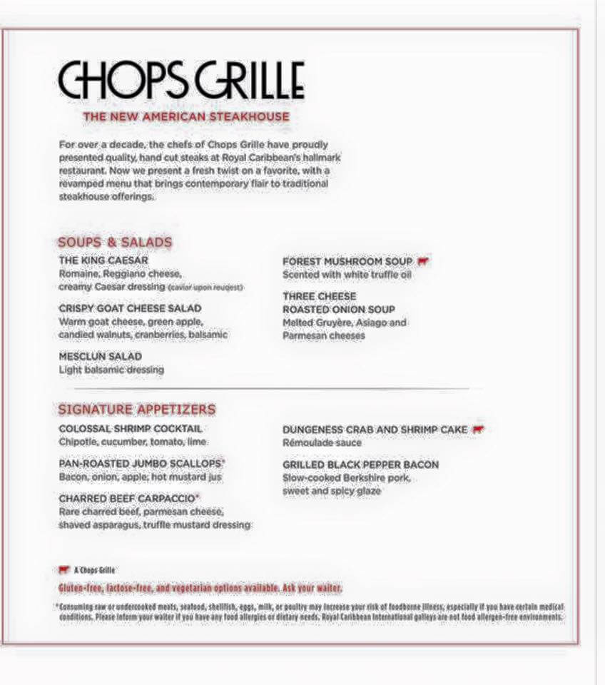 Royal Caribbean Chops Grille 1