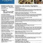 Celebrity Summit Today Daily Activity planner