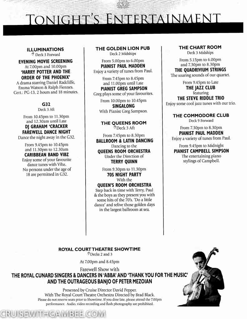Curnard Queen Mary 2 Daily programme activities-27