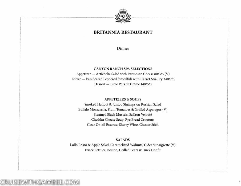 Curnard Queen Mary 2 Menus-2