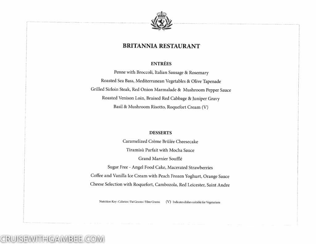 Curnard Queen Mary 2 Menus-5