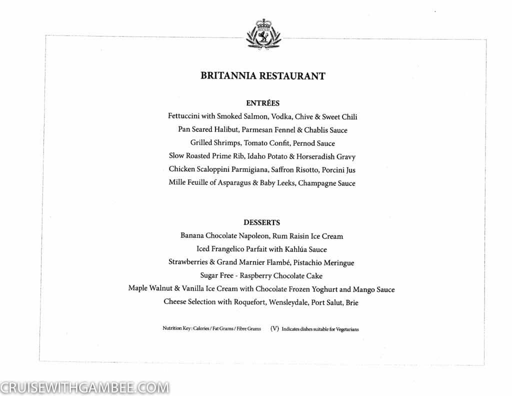 Curnard Queen Mary 2 Menus-7