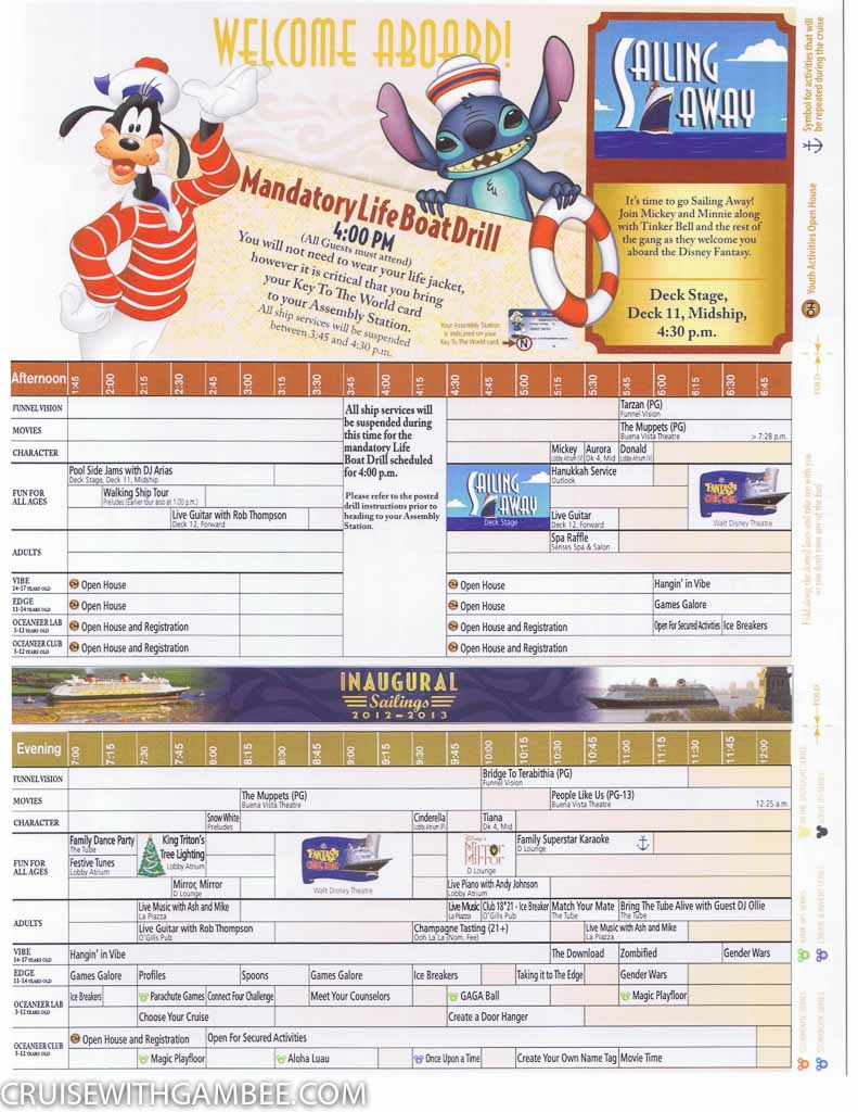Disney Fantasy Navigator Daily activity planner-11