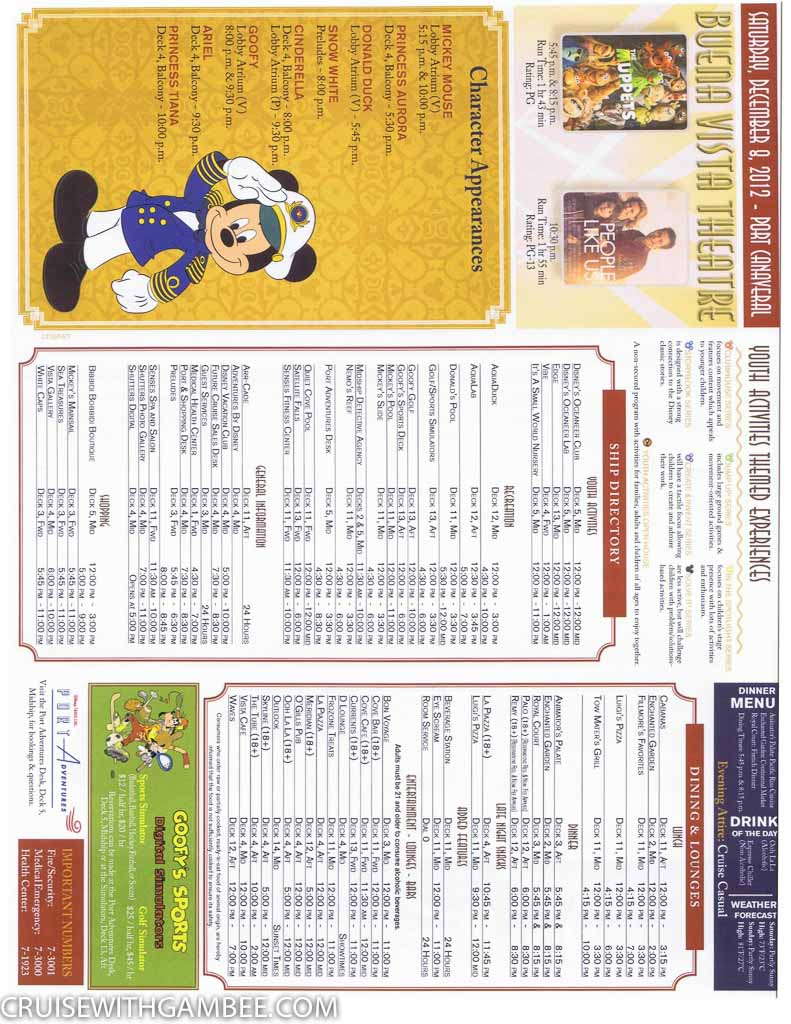 Disney Fantasy Navigator Daily activity planner-12