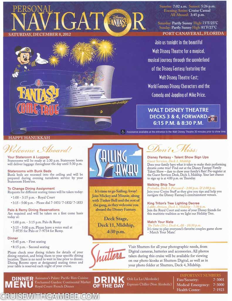 Disney Fantasy Navigator Daily activity planner-16