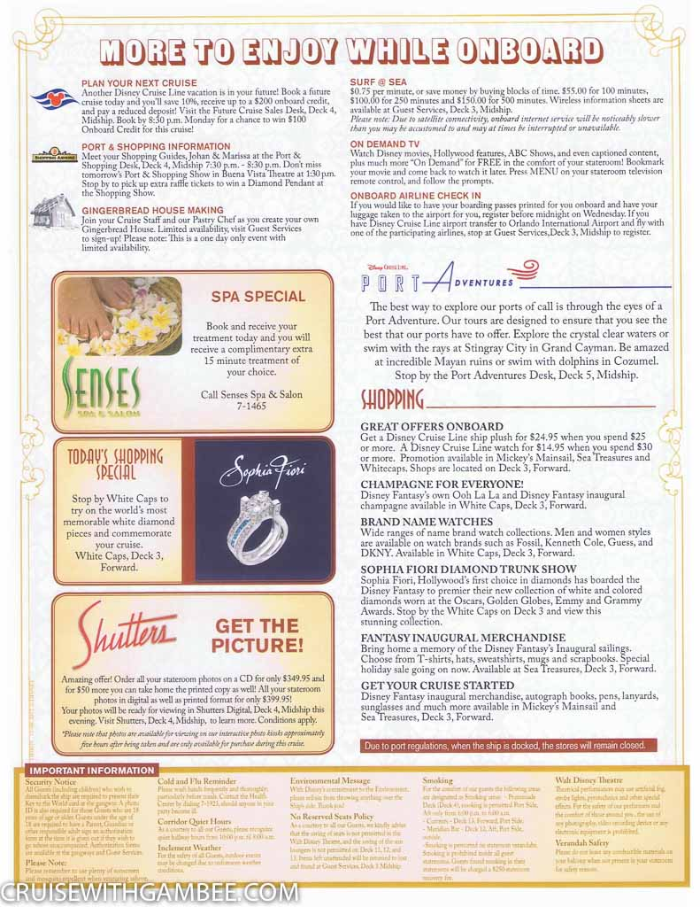 Disney Fantasy Navigator Daily activity planner-18