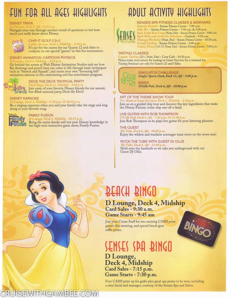 Disney Fantasy Navigator Daily activity planner-23