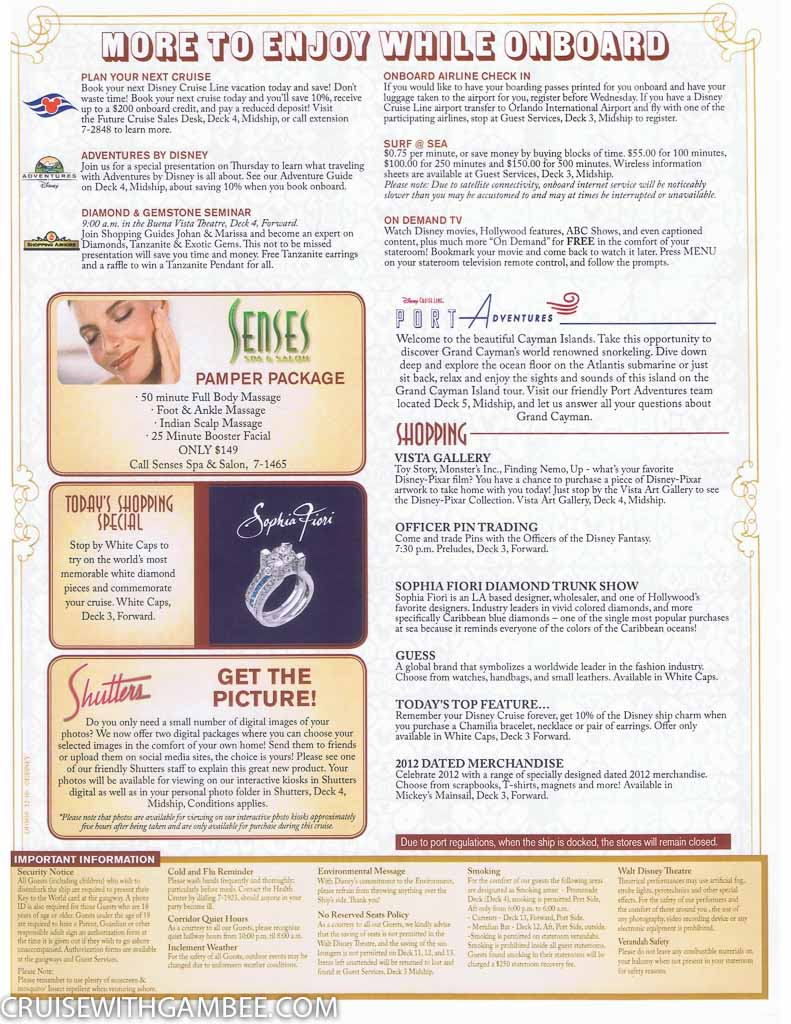 Disney Fantasy Navigator Daily activity planner-25