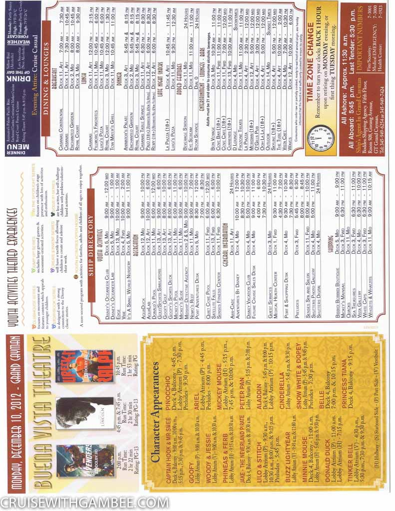 Disney Fantasy Navigator Daily activity planner-4