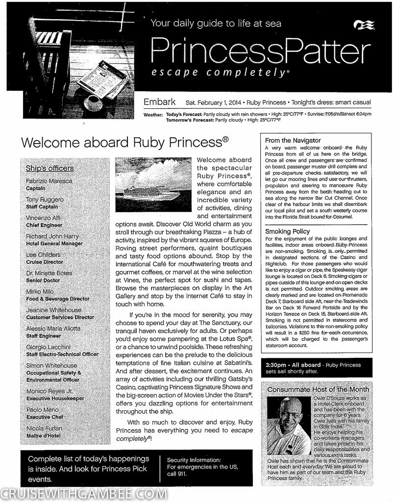 Ruby Princess Patter Daily Activities-1