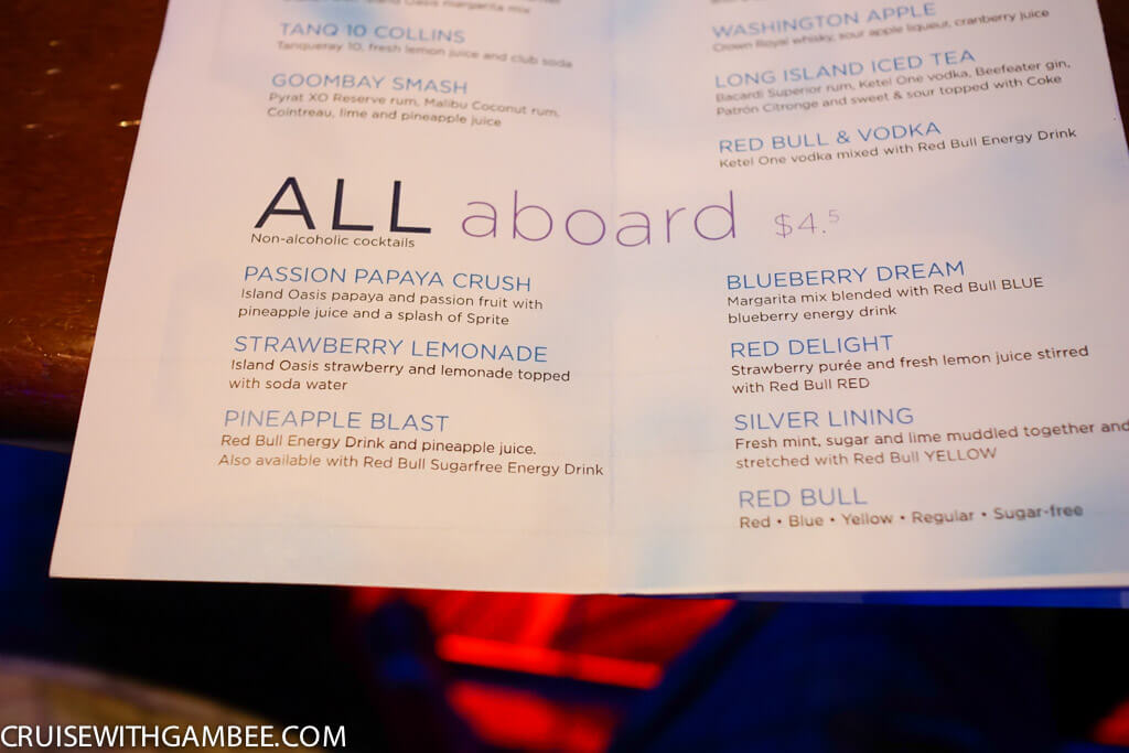 Royal Caribbean Drink Prices-2