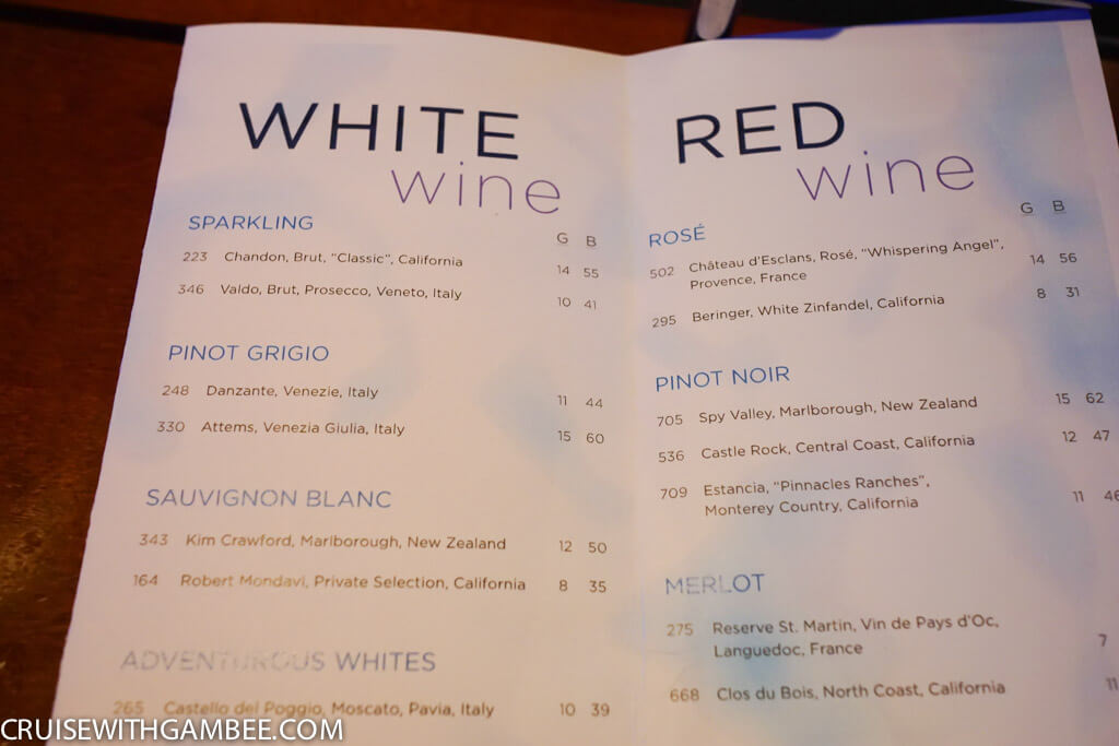 Royal Caribbean Drink Prices-3