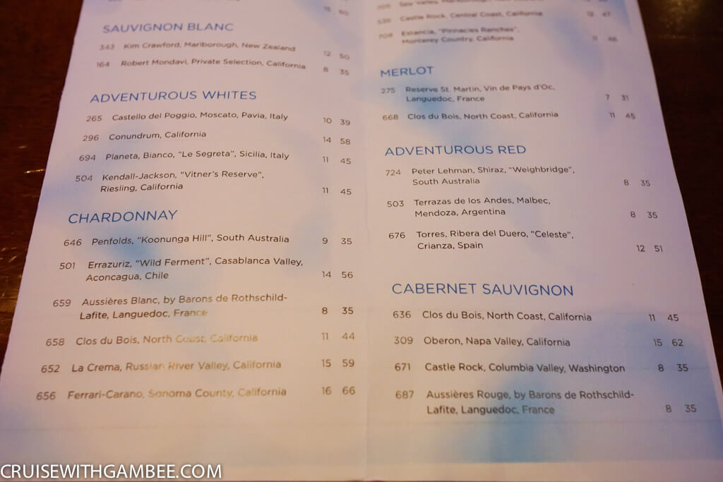 Royal Caribbean Drink Prices-5