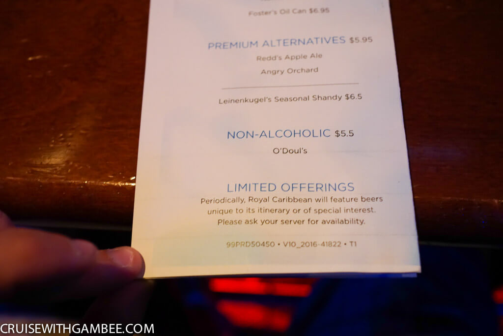 Royal Caribbean Drink Prices-8