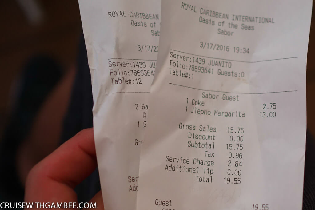 Royal Caribbean oasis of the seas drink prices-10