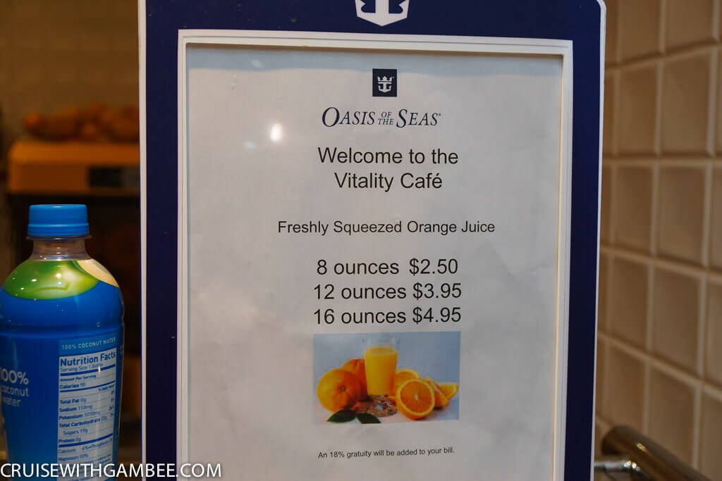 Royal Caribbean oasis of the seas drink prices-5