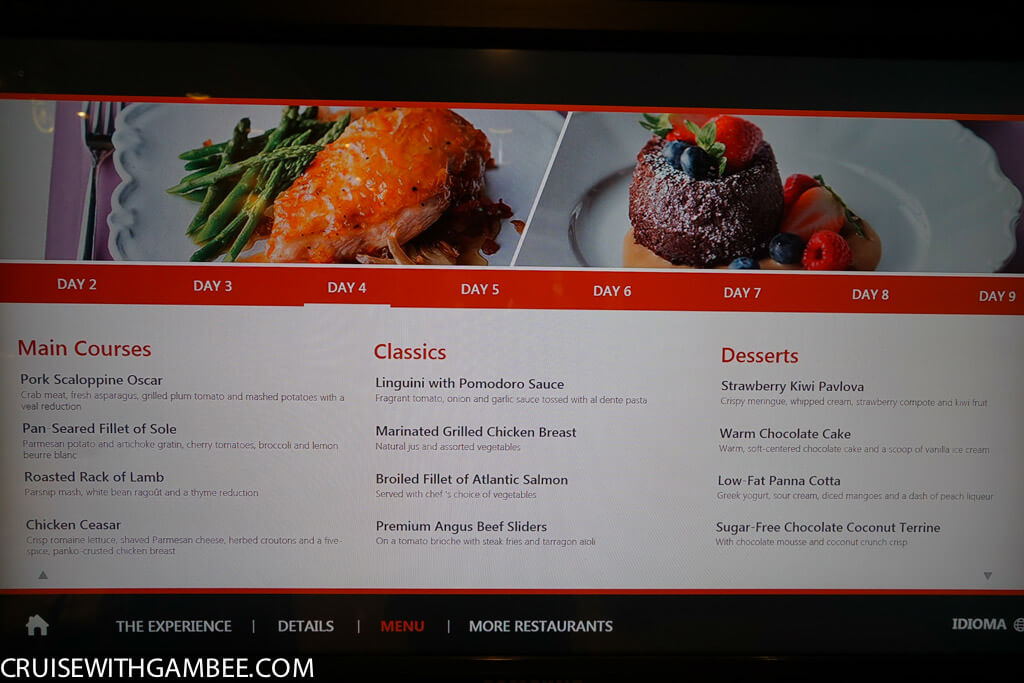 Royal Caribbean oasis of the seas food menus-15