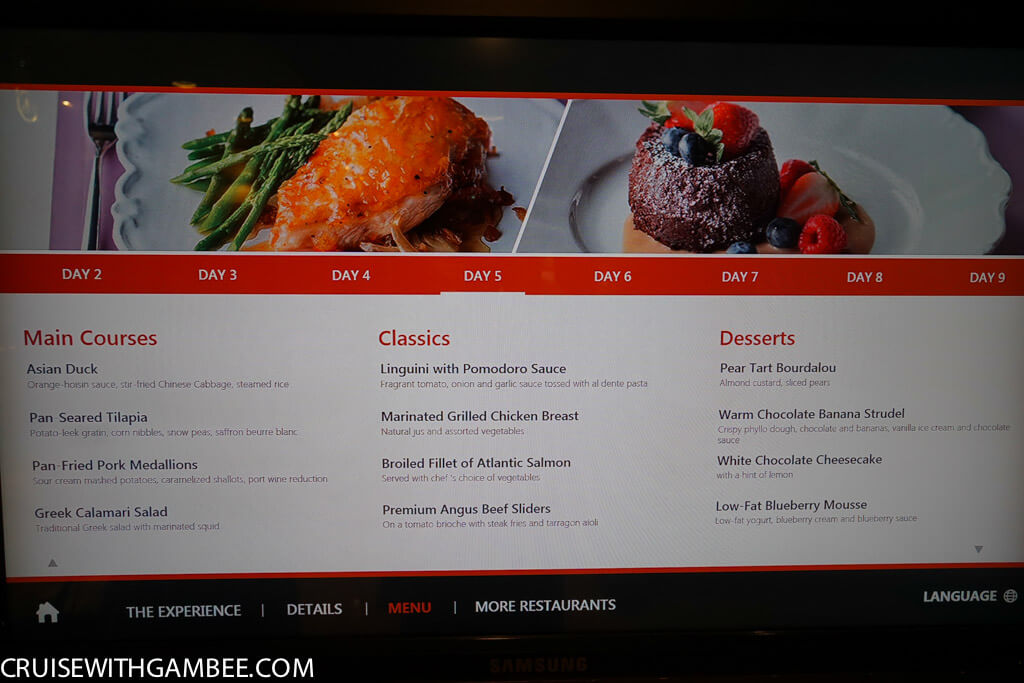 Royal Caribbean oasis of the seas food menus-17