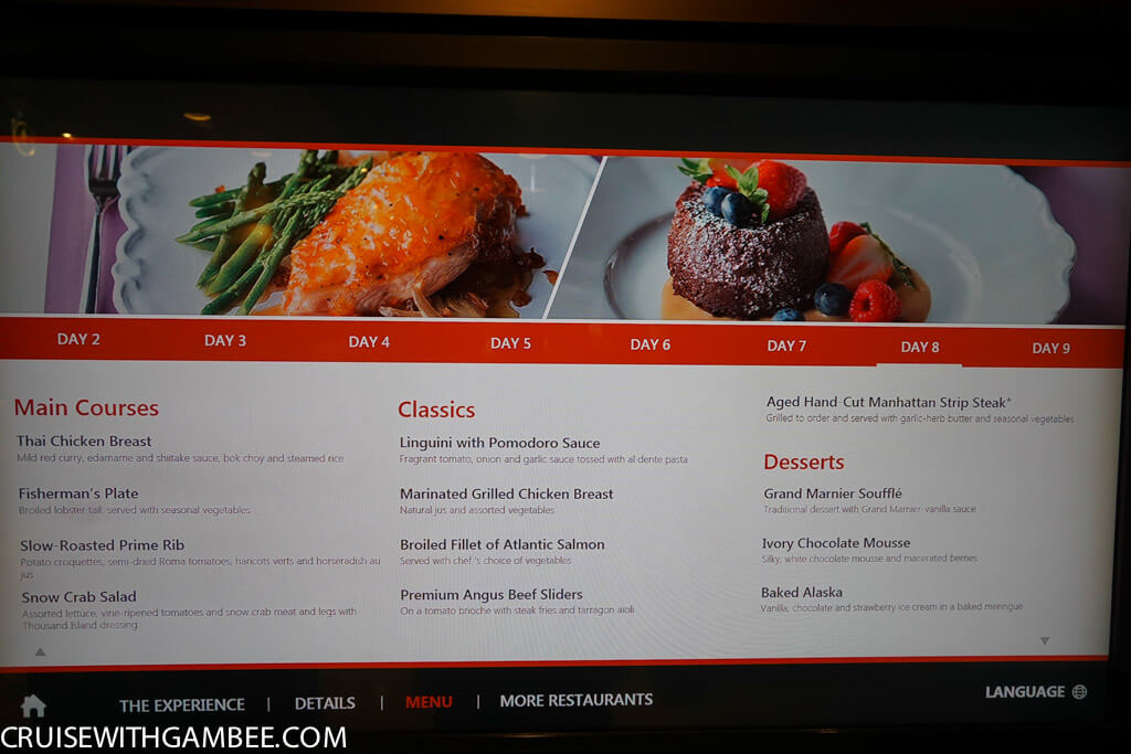 Royal Caribbean oasis of the seas food menus-23