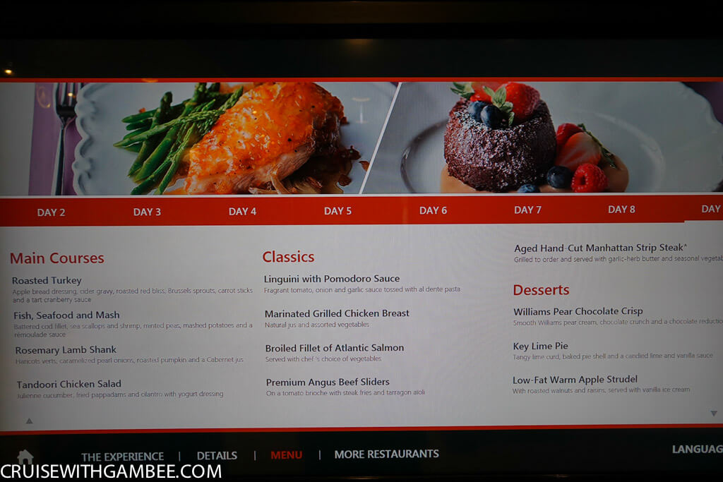 Royal Caribbean oasis of the seas food menus-25