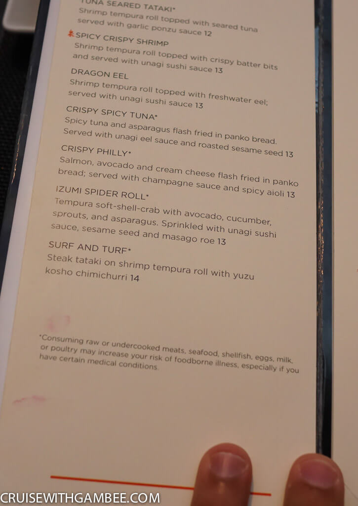 Royal Caribbean oasis of the seas food menus-50