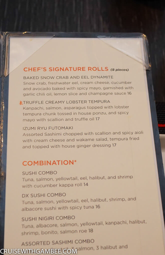 Royal Caribbean oasis of the seas food menus-51