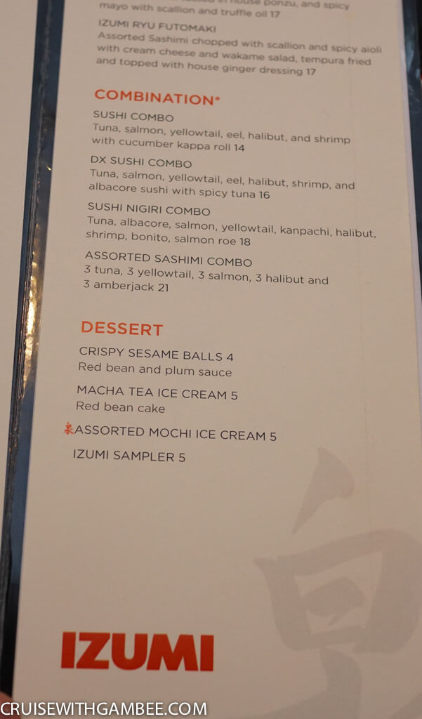 Royal Caribbean oasis of the seas food menus-52