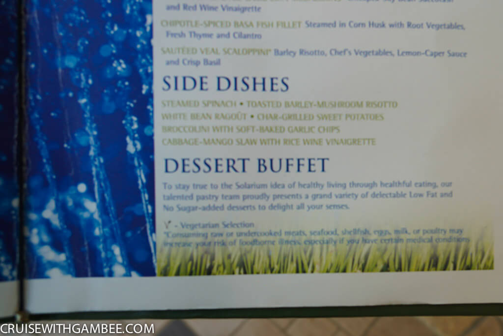 Royal Caribbean Menus Cruise With Gambee