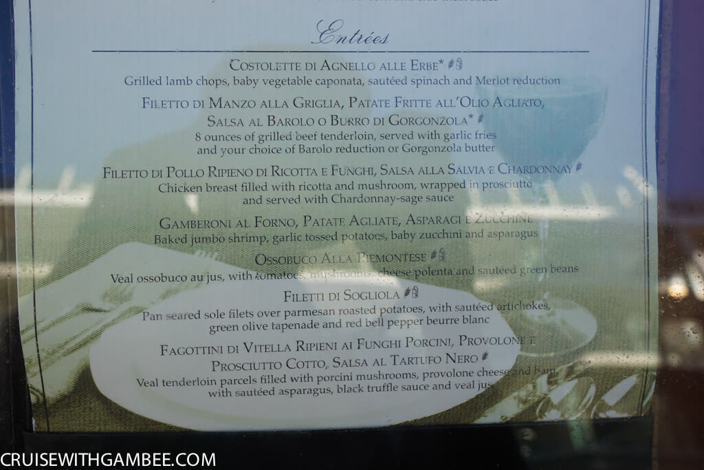 Royal Caribbean oasis of the seas food menus-61