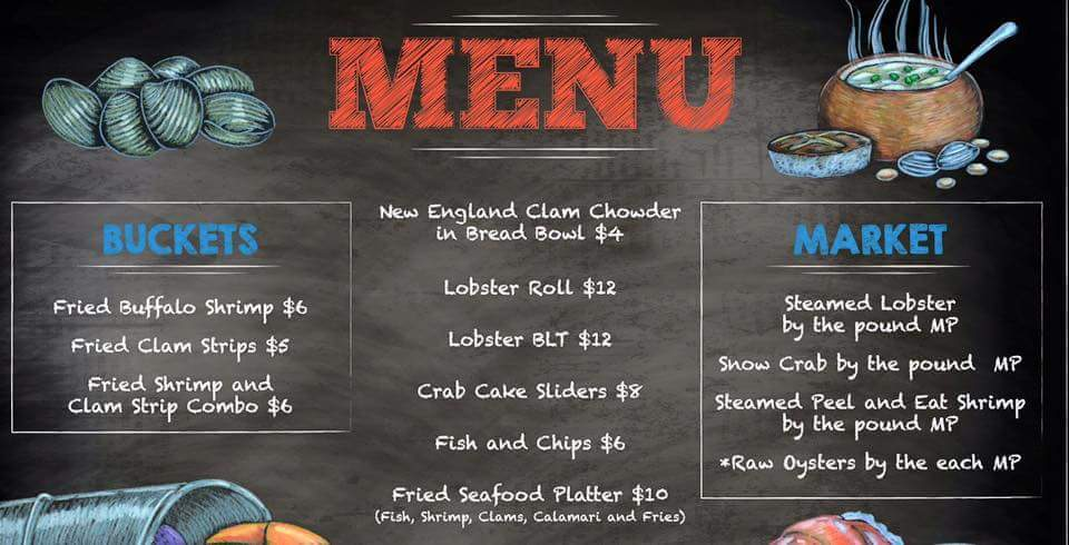 Carnival Vista Seafood Shack Menu Cruise With Gambee