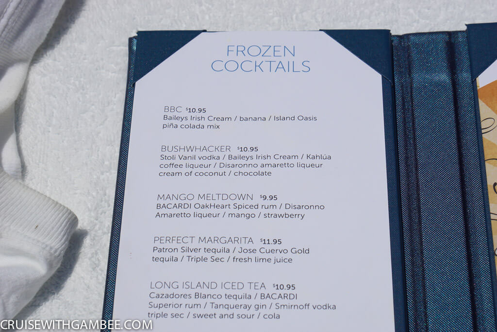 Norwegian Escape pool bar prices