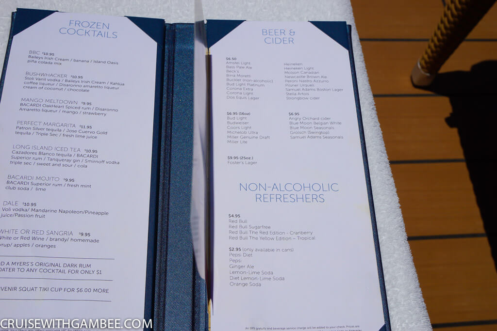 Norwegian Escape Drink Prices-31