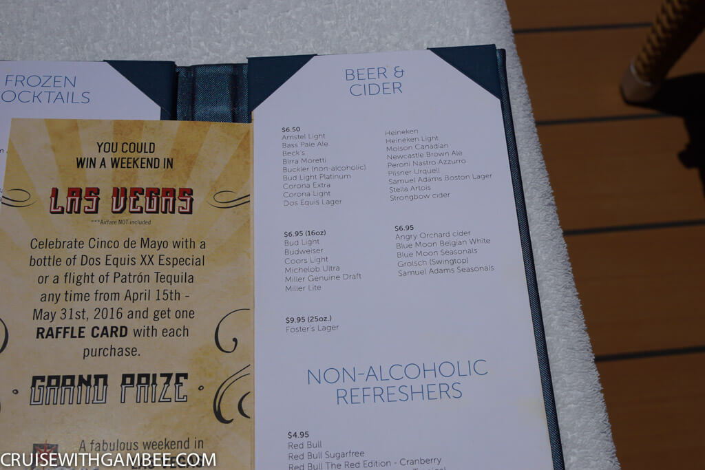 Norwegian Escape Drink Prices-33