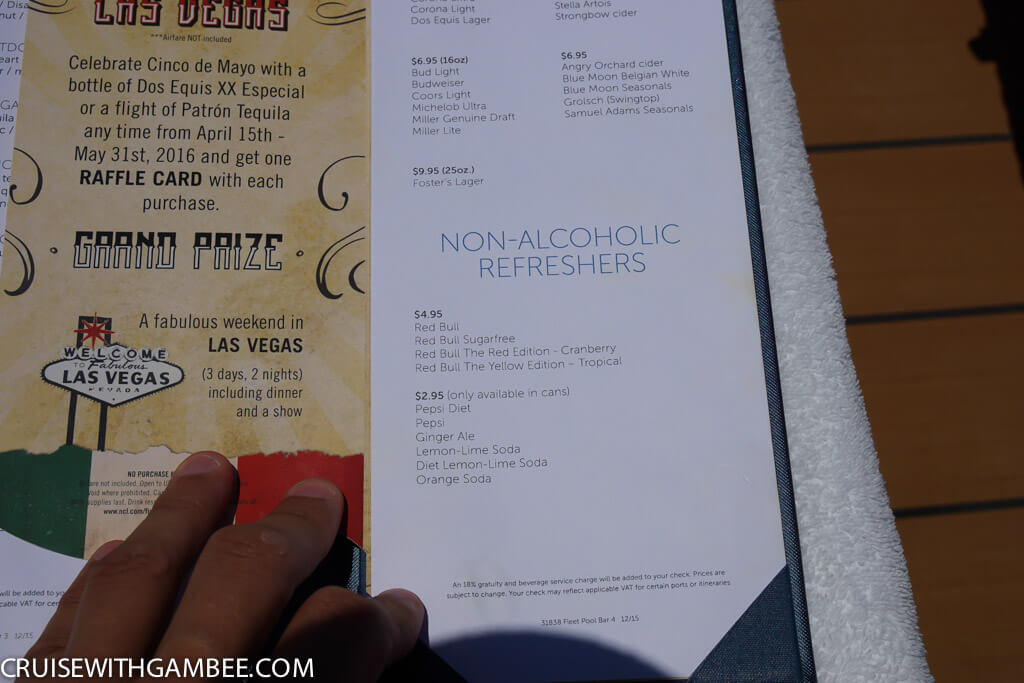 Norwegian Escape Drink Prices-34