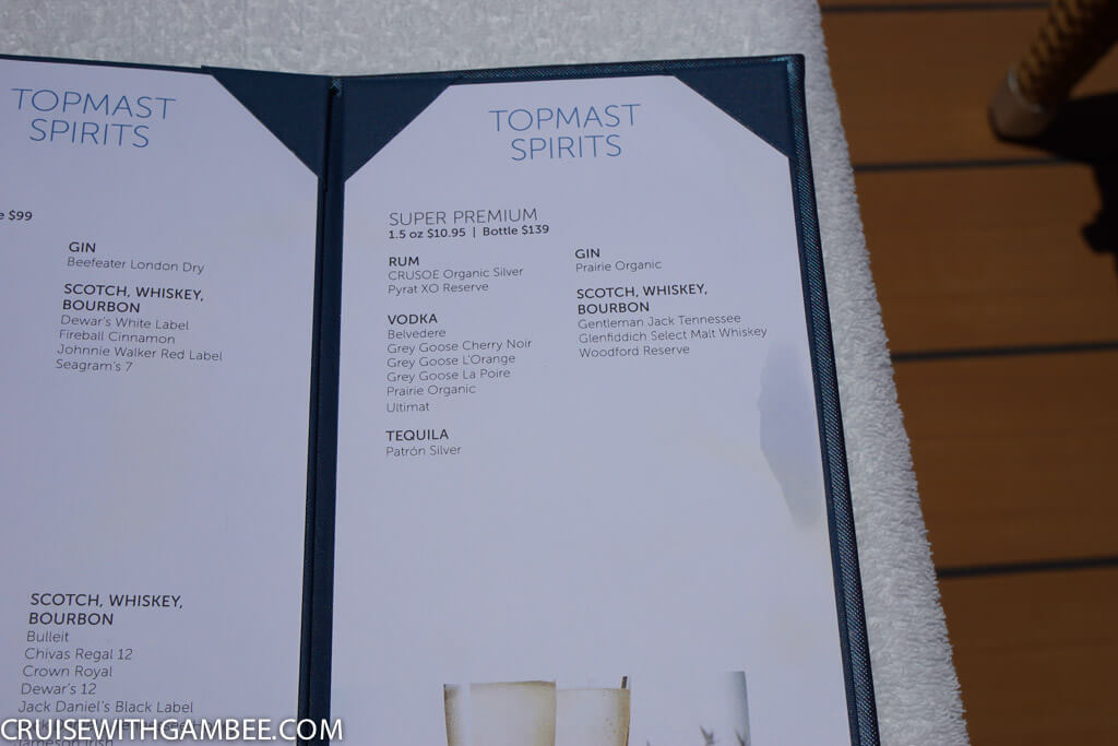 Norwegian Escape Drink Prices-37