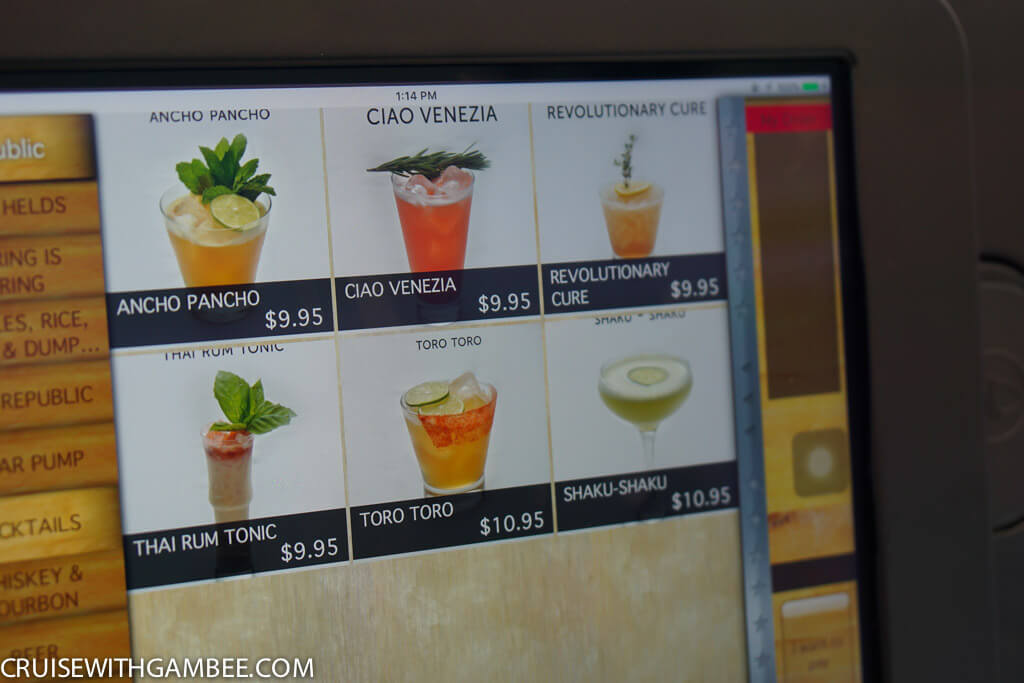 Norwegian Escape Drink Prices-38