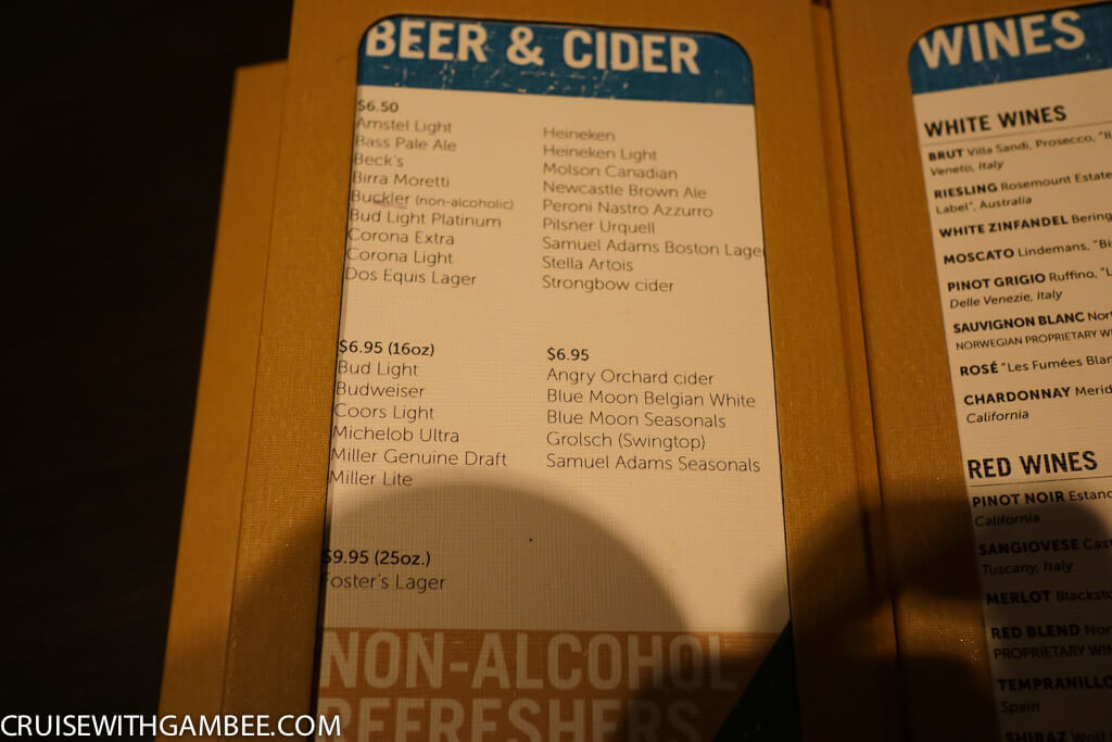 Norwegian Escape Drink Prices-49