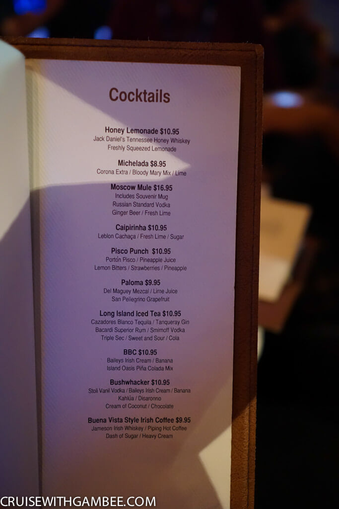 Norwegian Escape  cocktail prices