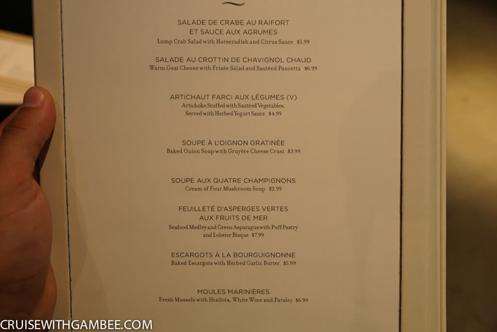 Souvent Norwegian Escape Menus - cruise with gambee WA79