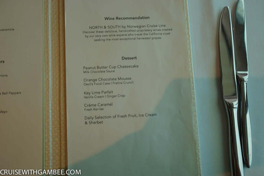 Norwegian Escape Food Menus-47