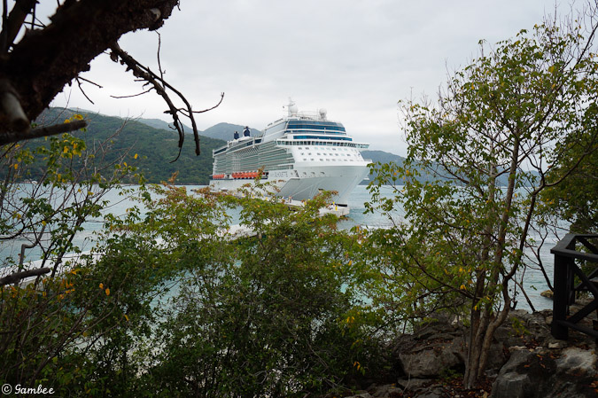 Celebrity Silhouette docked in Labadee