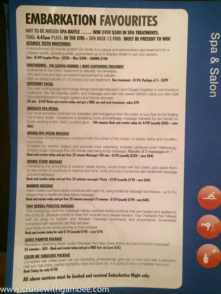 Carnival Cruise Spa treatment prices-3